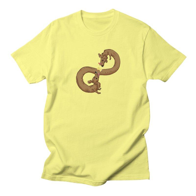 Dachshund Dilemma Men's Regular T-Shirt by Sporecloud - Stuff by Jeff Bent