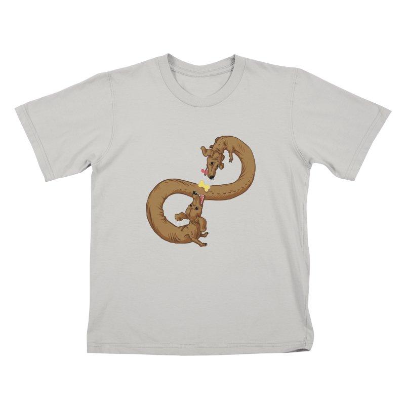 Dachshund Dilemma Kids T-Shirt by Sporecloud - Stuff by Jeff Bent