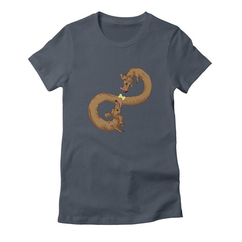 Dachshund Dilemma Women's T-Shirt by Sporecloud - Stuff by Jeff Bent