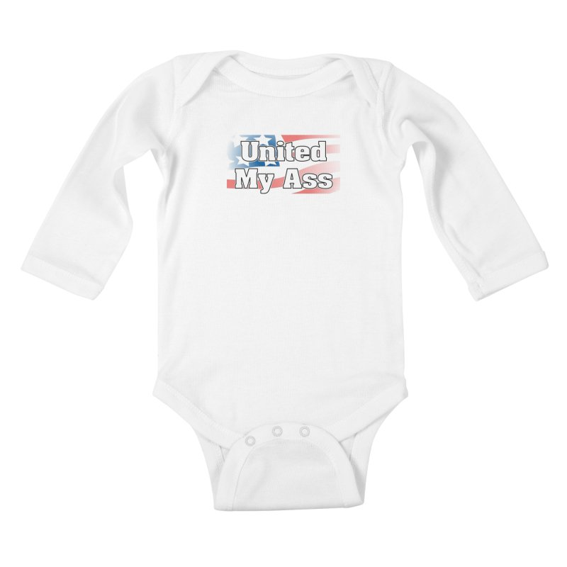 United My Ass Kids Baby Longsleeve Bodysuit by spork.nyc