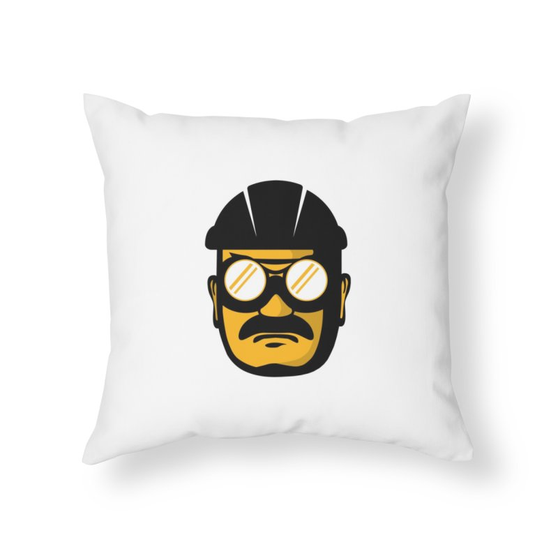 Steelers Wire Icon Home Throw Pillow by Sport'n Goods Artist Shop