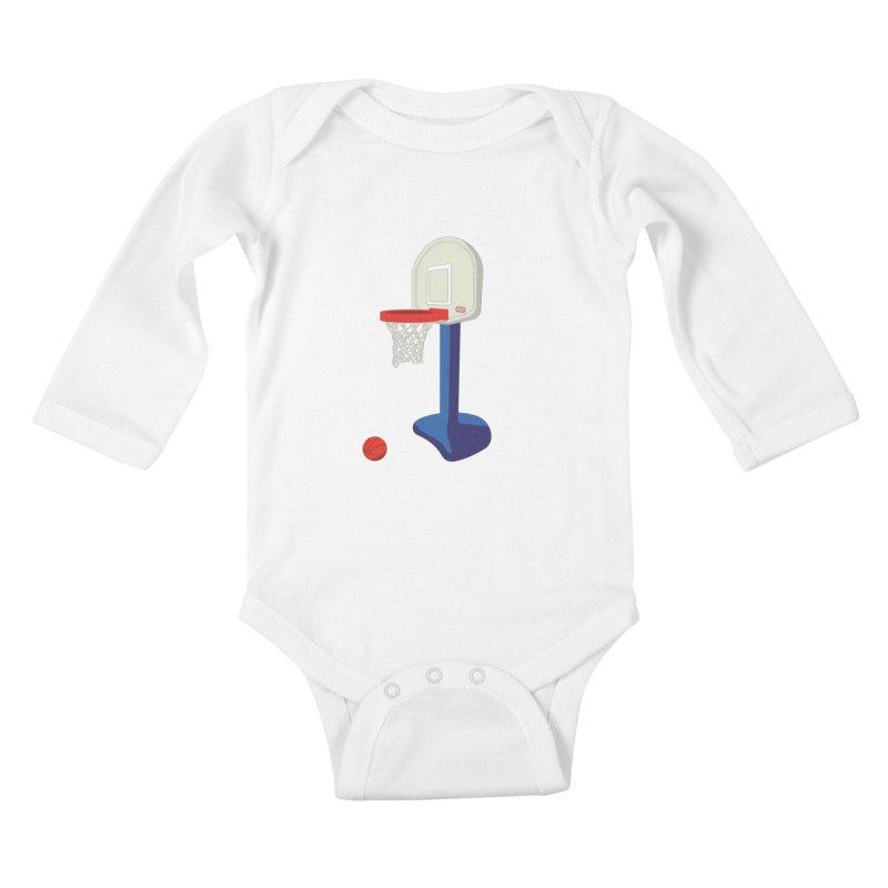 Little Hoop Big Games Kids Baby Longsleeve Bodysuit by Sport'n Goods Artist Shop