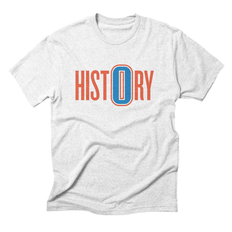 History in Men's Triblend T-shirt Heather White by Sport'n Goods Artist Shop