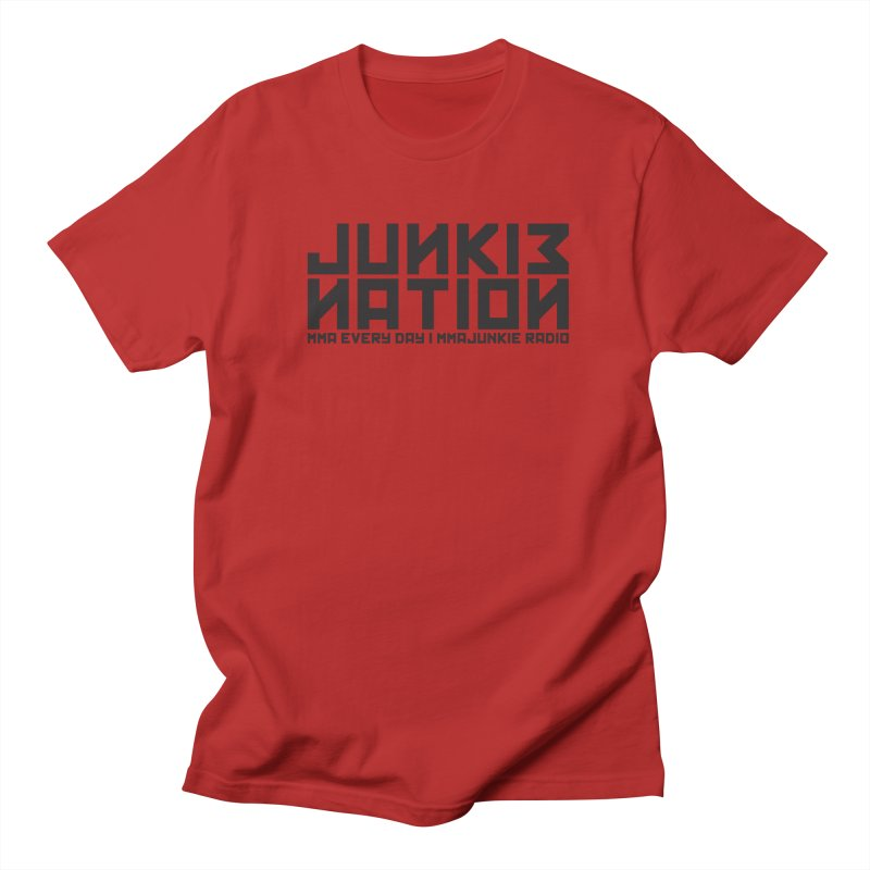 "MMAjunkie Radio ""Junkie Nation"" in Men's T-shirt Red by Sport'n Goods Artist Shop"