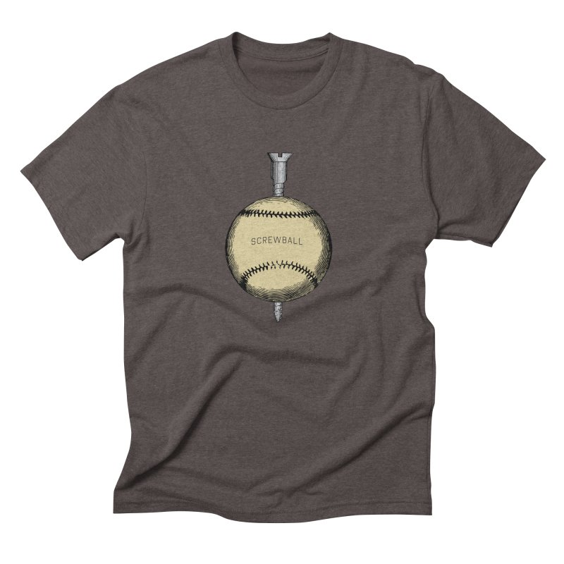 Screwball in Men's Triblend T-Shirt Tri-Coffee by Sport'n Goods Artist Shop