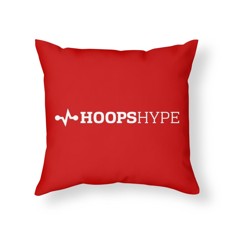 Hoops Hype - Heartbeat of Hoops Home Throw Pillow by Sport'n Goods Artist Shop