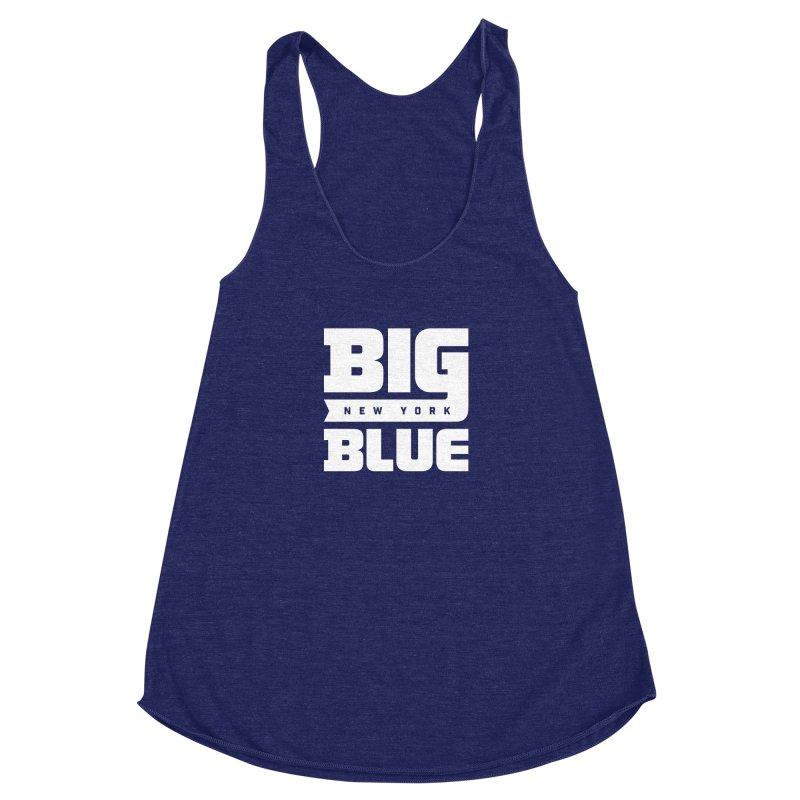 Big Blue Women's Racerback Triblend Tank by Sport'n Goods Artist Shop