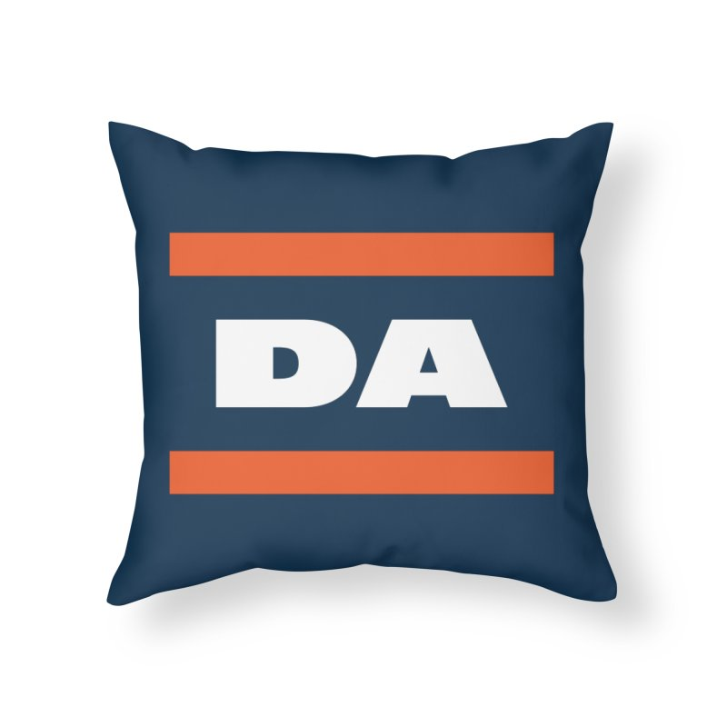 DA Home Throw Pillow by Sport'n Goods Artist Shop