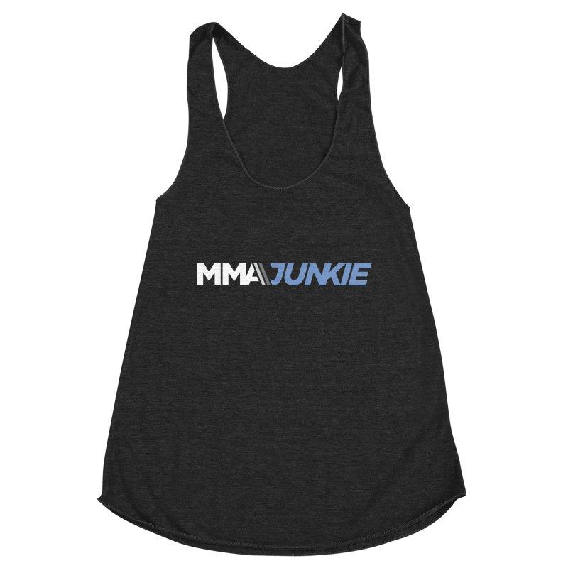 MMAjunkie Logo Women's Racerback Triblend Tank by Sport'n Goods Artist Shop