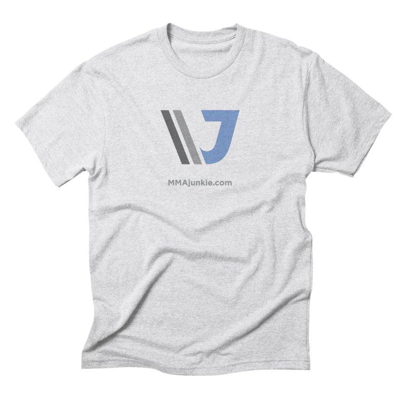 MMAjunkie Brand in Men's Triblend T-Shirt Heather White by Sport'n Goods Artist Shop