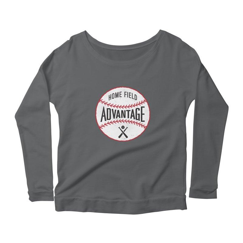 Home Field Advantage Women's Longsleeve Scoopneck  by Sport'n Goods Artist Shop