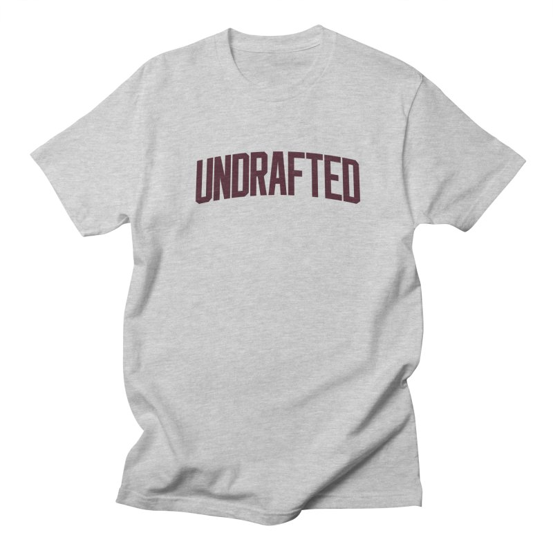 Undrafted in Men's T-Shirt Heather Grey by Sport'n Goods Artist Shop