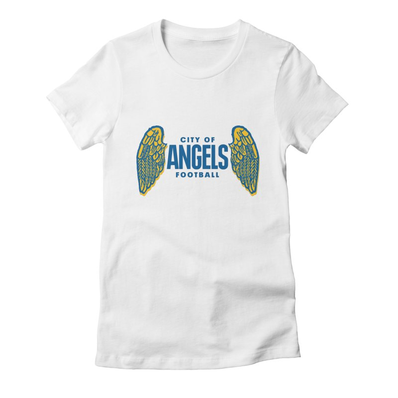 City of Angels Football Women's Fitted T-Shirt by Sport'n Goods Artist Shop