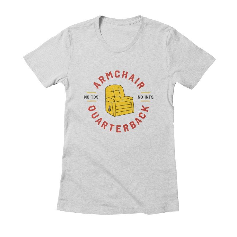 Armchair Quarterback Women's Fitted T-Shirt by Sport'n Goods Artist Shop