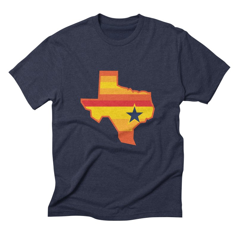 Tequila Sunrise in Men's Triblend T-shirt Navy by Sport'n Goods Artist Shop