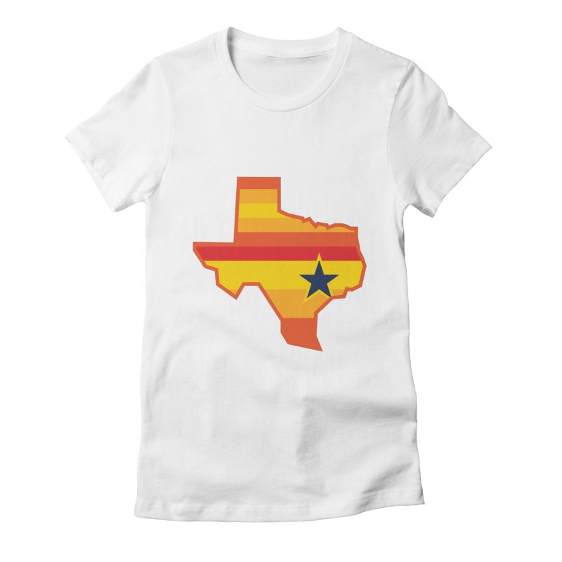 Tequila Sunrise Women's Fitted T-Shirt by Sport'n Goods Artist Shop