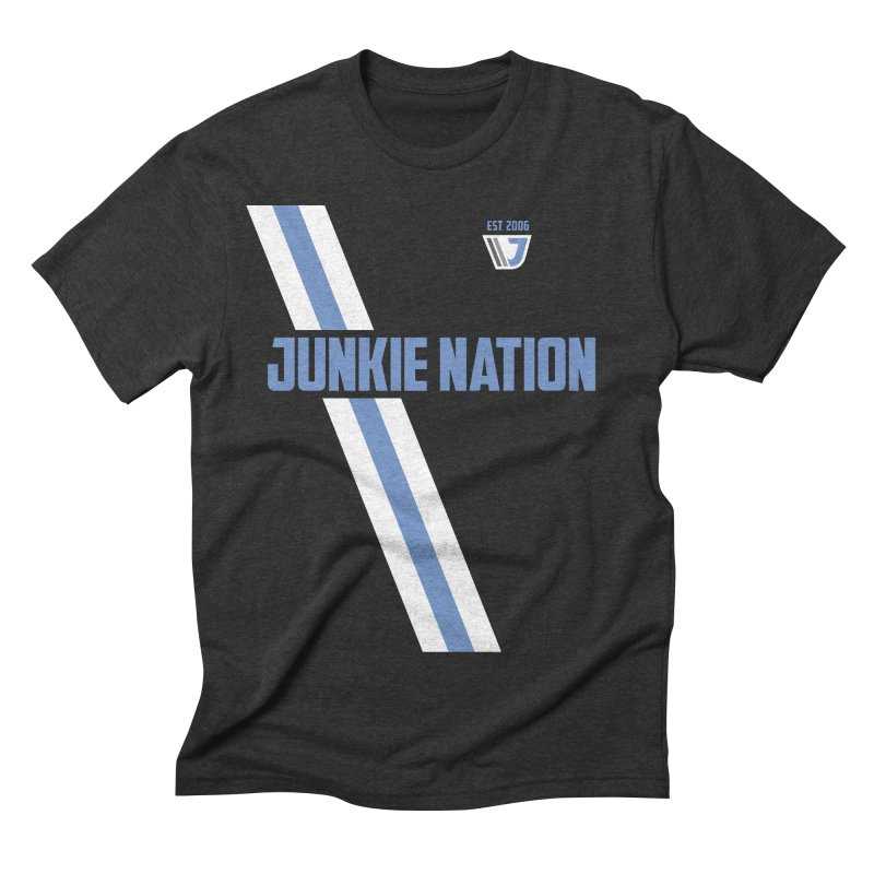 Junkie Nation  in Men's Triblend T-shirt Heather Onyx by Sport'n Goods Artist Shop