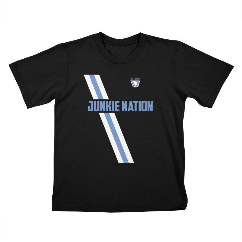 Junkie Nation soccer stripe Kids T-shirt by Sport'n Goods Artist Shop