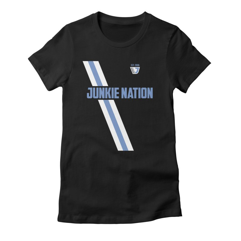 Junkie Nation soccer stripe Women's Fitted T-Shirt by Sport'n Goods Artist Shop