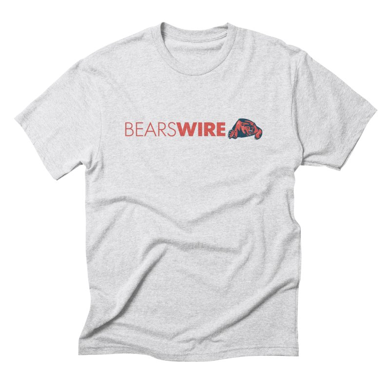 Bears Wire  in Men's Triblend T-Shirt Heather White by Sport'n Goods Artist Shop