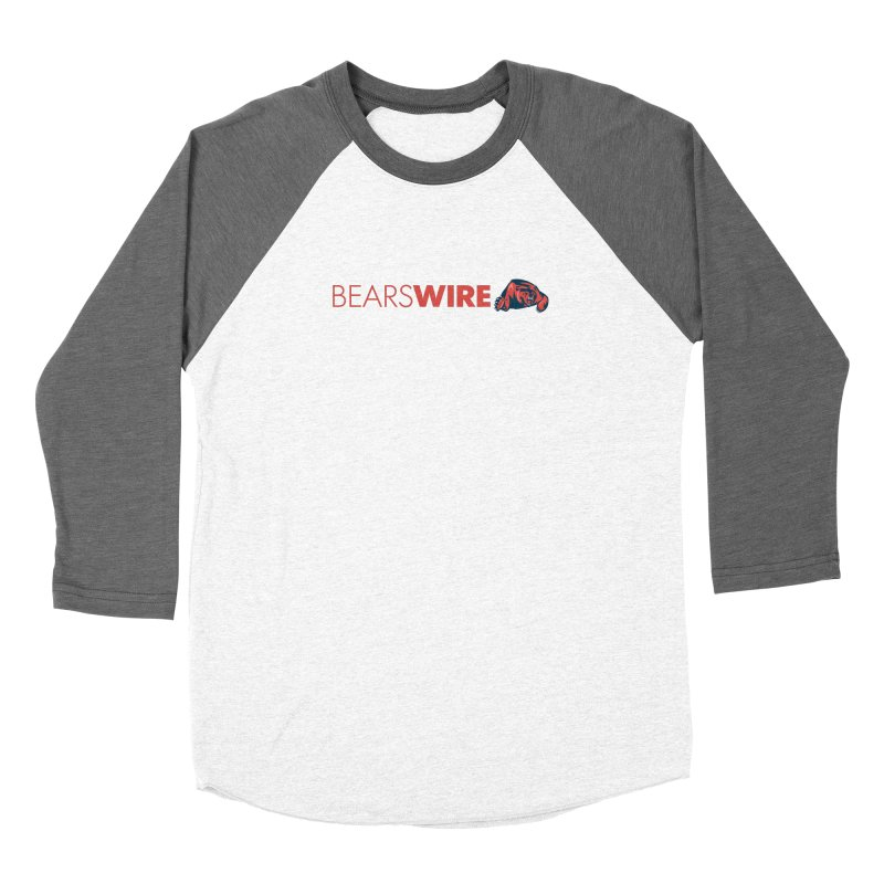 Bears Wire  Men's Baseball Triblend Longsleeve T-Shirt by Sport'n Goods Artist Shop