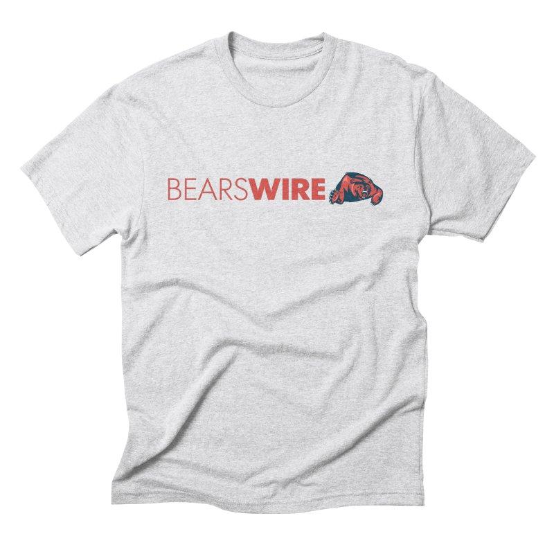 Bears Wire  in Men's Triblend T-shirt Heather White by Sport'n Goods Artist Shop