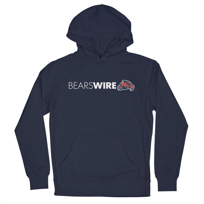 Bears Wire  in Men's French Terry Pullover Hoody Navy by Sport'n Goods Artist Shop