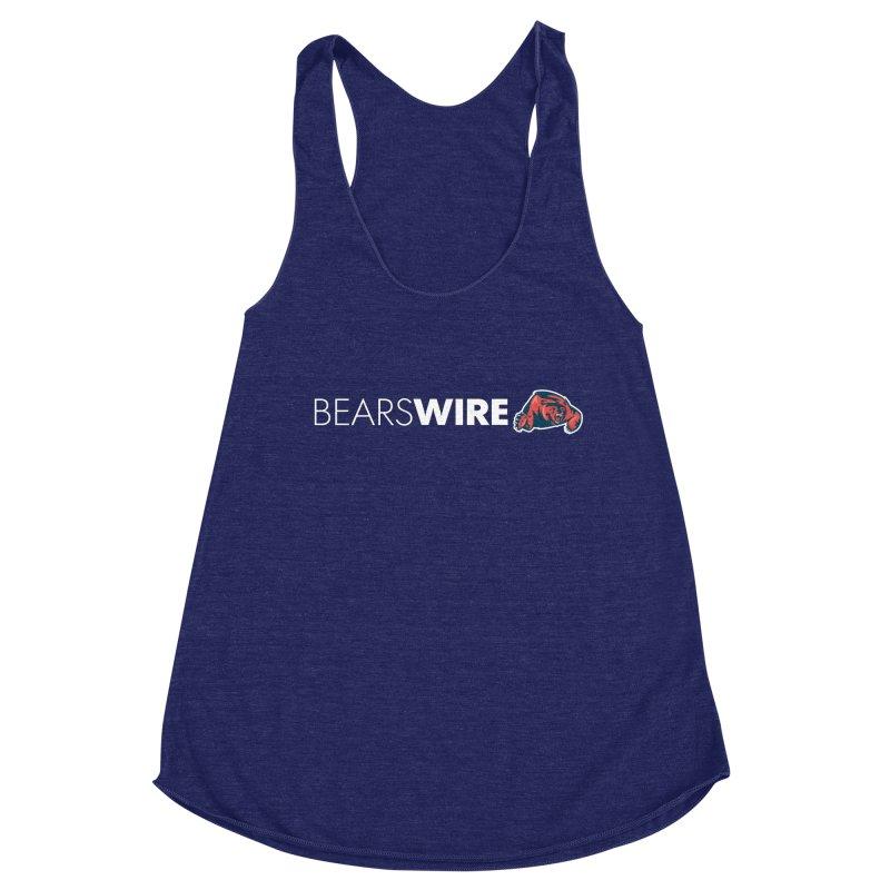Bears Wire  Women's Racerback Triblend Tank by Sport'n Goods Artist Shop