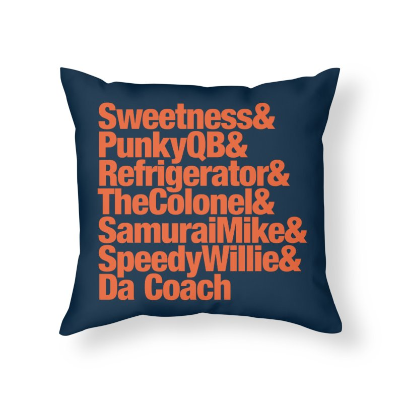 '85 Bears Nicknames Home Throw Pillow by Sport'n Goods Artist Shop