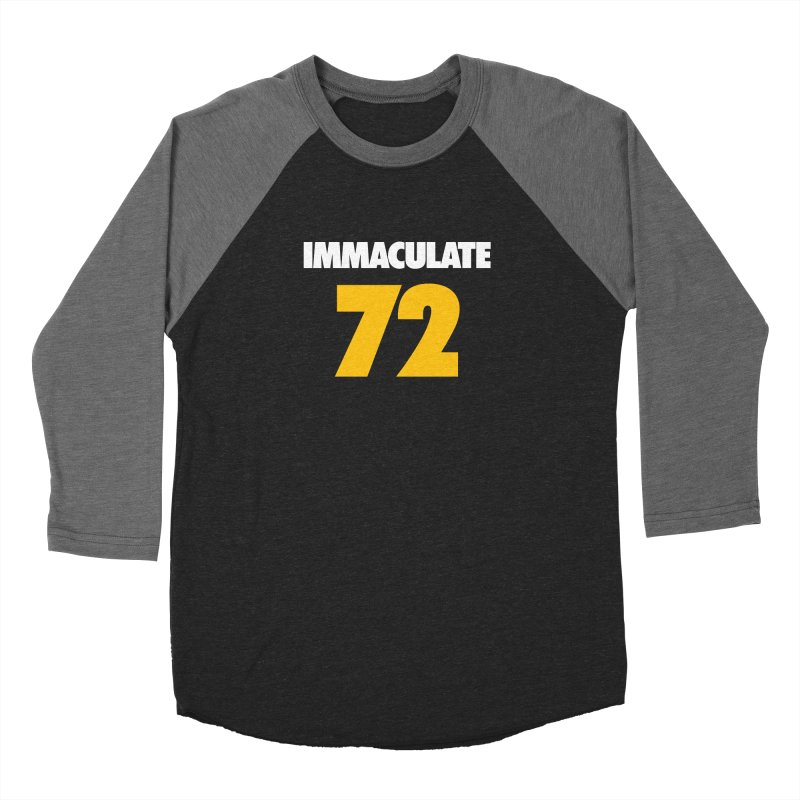 Immaculate 72 Black Women's Baseball Triblend Longsleeve T-Shirt by Sport'n Goods Artist Shop