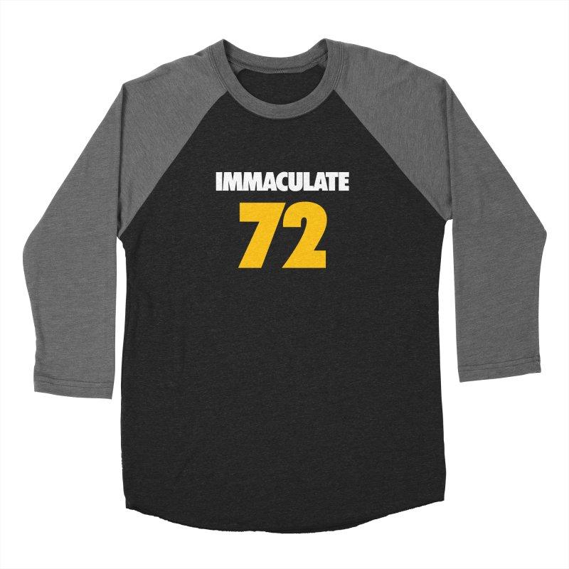 Immaculate 72 Black Men's Baseball Triblend Longsleeve T-Shirt by Sport'n Goods Artist Shop