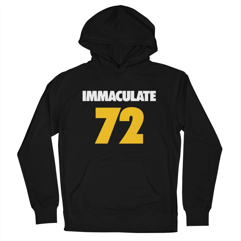 Immaculate 72 Black Men's Pullover Hoody by Sport'n Goods Artist Shop