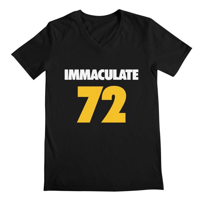 Immaculate 72 Black Men's V-Neck by Sport'n Goods Artist Shop