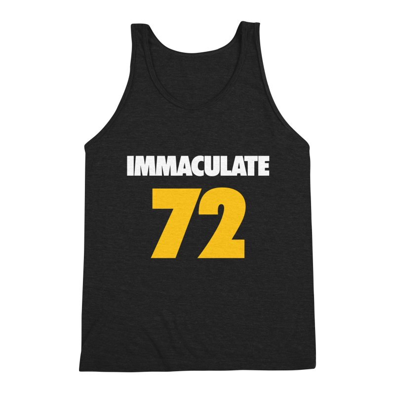 Immaculate 72 Black Men's Triblend Tank by Sport'n Goods Artist Shop