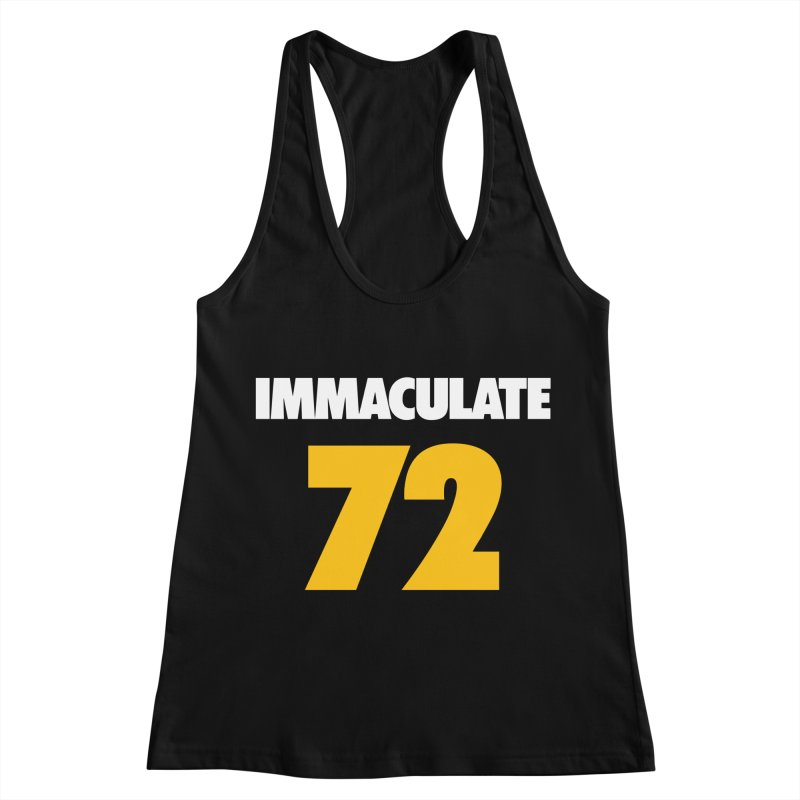 Immaculate 72 Black Women's Racerback Tank by Sport'n Goods Artist Shop