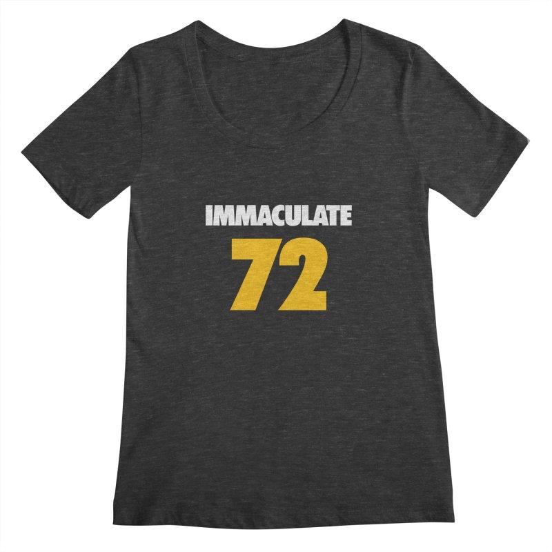 Immaculate 72 Black Women's Scoopneck by Sport'n Goods Artist Shop
