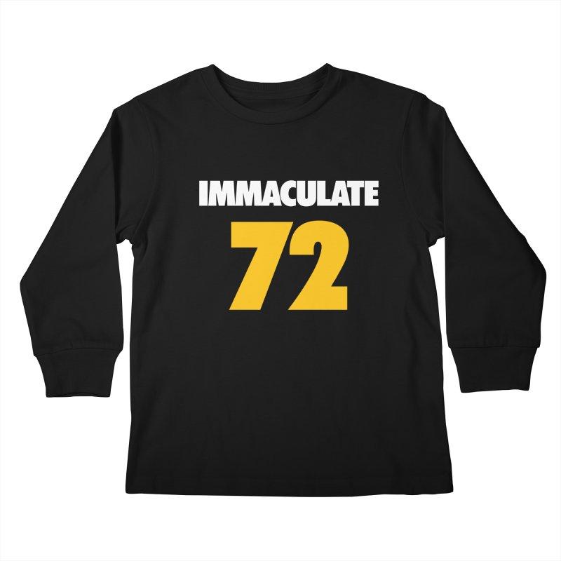 Immaculate 72 Black Kids Longsleeve T-Shirt by Sport'n Goods Artist Shop