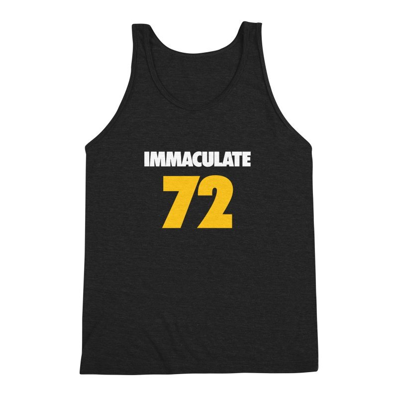 Immaculate 72 Black Men's Triblend Tank by Sport'n Goods Artist Shop