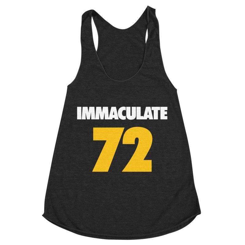 Immaculate 72 Black Women's Racerback Triblend Tank by Sport'n Goods Artist Shop