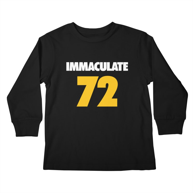 Immaculate 72 Black Kids Longsleeve T-Shirt by Sport'n Goods Artist Shop