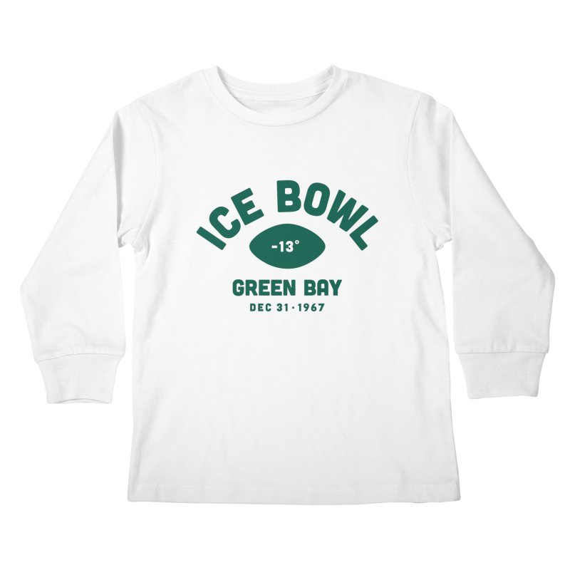 Ice Bowl Kids Longsleeve T-Shirt by Sport'n Goods Artist Shop