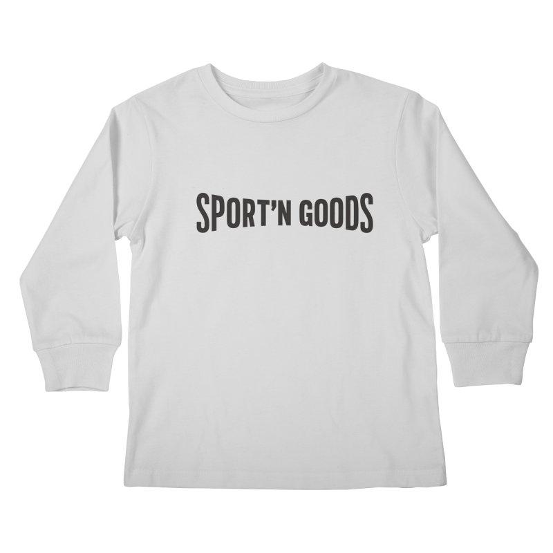 Sport'n Goods logo Kids Longsleeve T-Shirt by Sport'n Goods Artist Shop