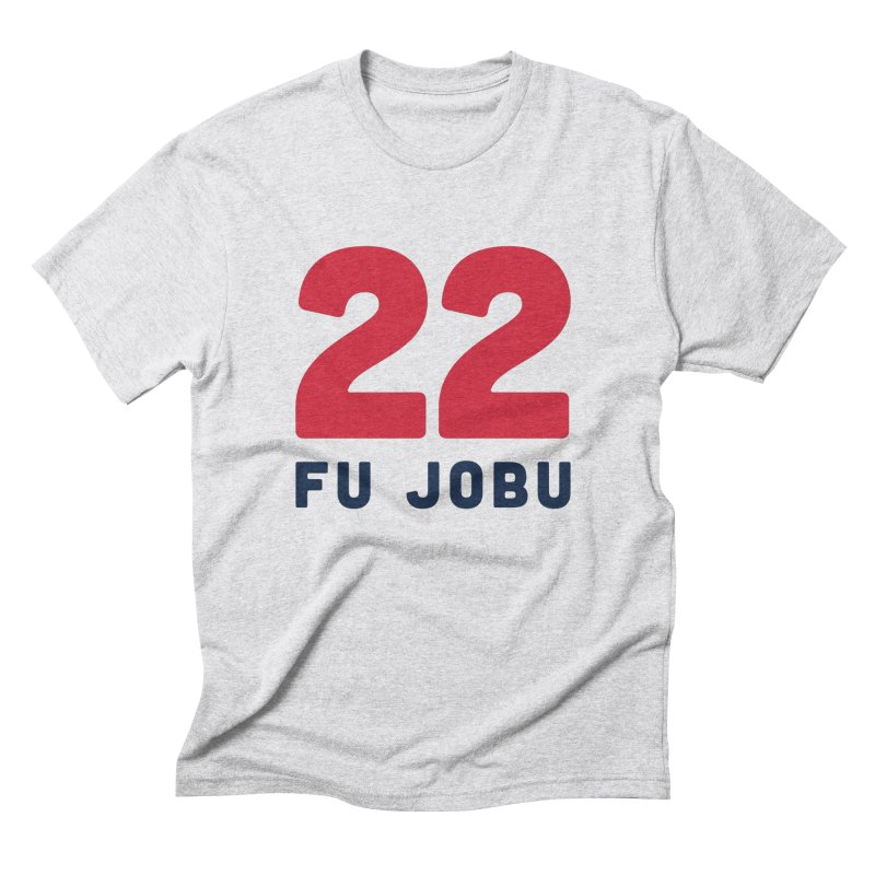 FU JOBU in Men's Triblend T-shirt Heather White by Sport'n Goods Artist Shop