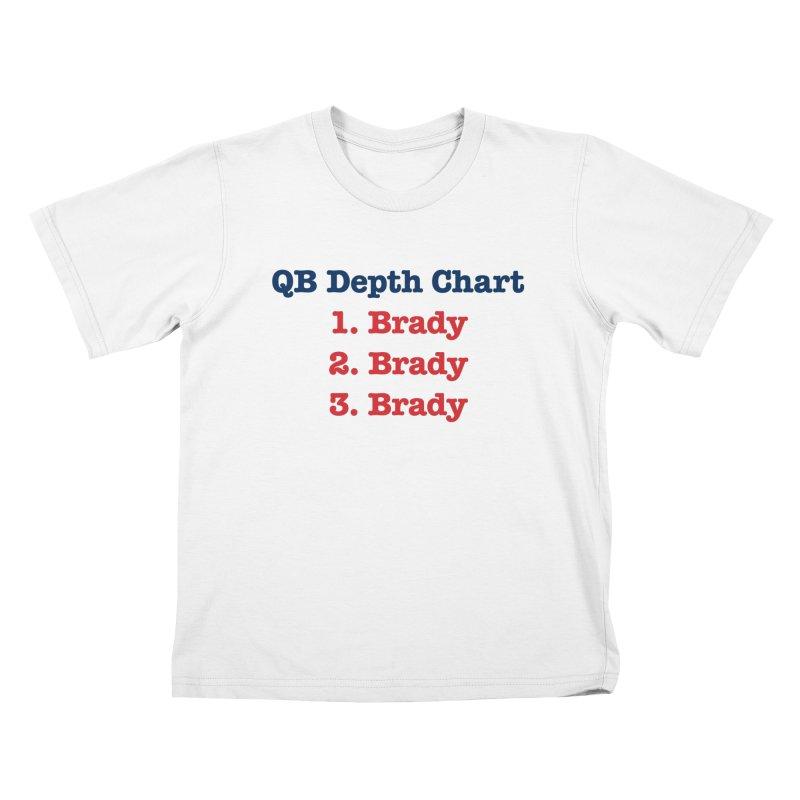 QB Depth Chart Kids T-shirt by Sport'n Goods Artist Shop