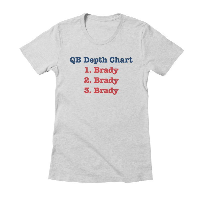 QB Depth Chart Women's Fitted T-Shirt by Sport'n Goods Artist Shop
