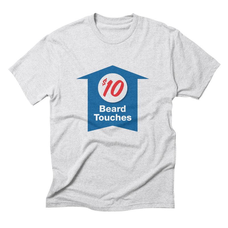 $10 Beard Touches in Men's Triblend T-Shirt Heather White by Sport'n Goods Artist Shop