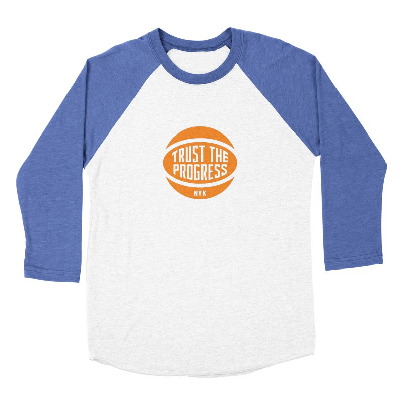 Trust The Progress - Blue Women's Baseball Triblend Longsleeve T-Shirt by Sport'n Goods Artist Shop