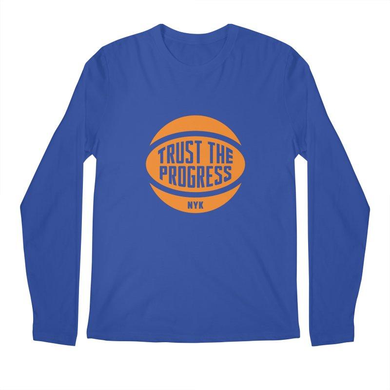 Trust The Progress - Blue Men's Regular Longsleeve T-Shirt by Sport'n Goods Artist Shop