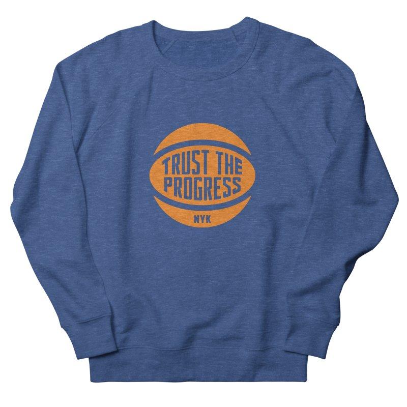 Trust The Progress - Blue Men's French Terry Sweatshirt by Sport'n Goods Artist Shop