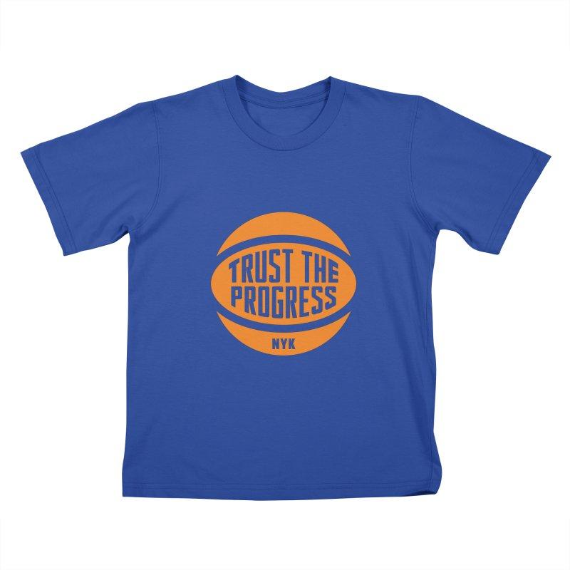 Trust The Progress - Blue Kids T-Shirt by Sport'n Goods Artist Shop